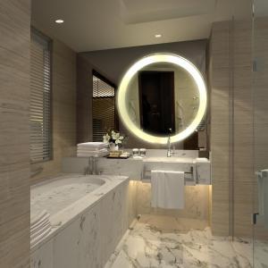 A bathroom at Shanghai Hongqiao Airport Hotel - Air China