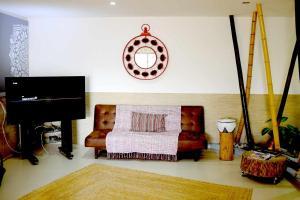 A seating area at Mandala House