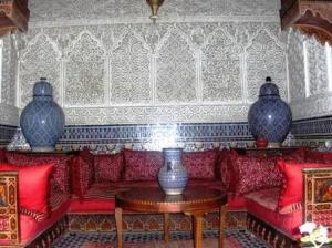 A seating area at Riad Bab Chems