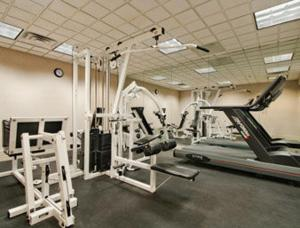 The fitness center and/or fitness facilities at Ramada by Wyndham Harrisburg/Hershey Area
