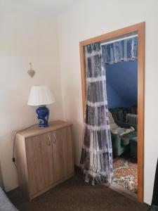 Postel nebo postele na pokoji v ubytování Apartmán Vysočina