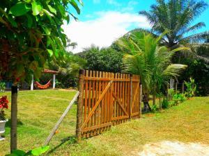 A garden outside Casa Praia Ilheus/Itacare