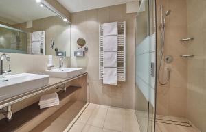 Ein Badezimmer in der Unterkunft Rosentalerhof Hotel & Appartements