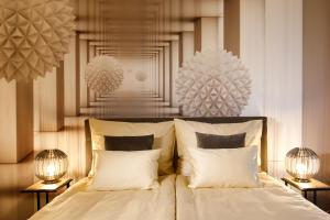 Ein Bett oder Betten in einem Zimmer der Unterkunft vienna westside apartments - contactless check-in