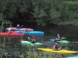 Canoeing at the country house or nearby