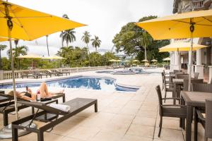 The swimming pool at or near Radisson Hotel Panama Canal
