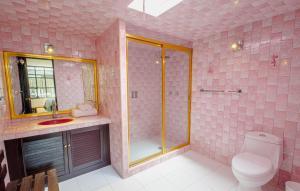 A bathroom at Cholula Rooms