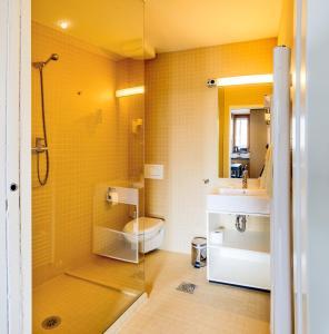 A bathroom at Hotel Sanje ob Soči ***/****