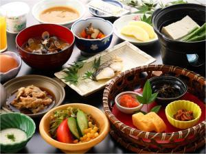 อาหารที่มีในเรียวกังหรือบริเวณใกล้เคียง