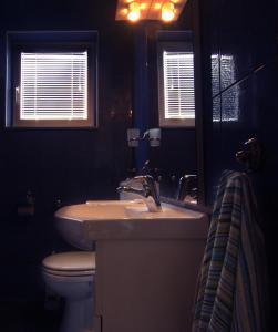 A bathroom at Apartments Nebeska