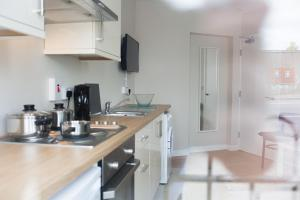 A kitchen or kitchenette at PG McQuaid Suite