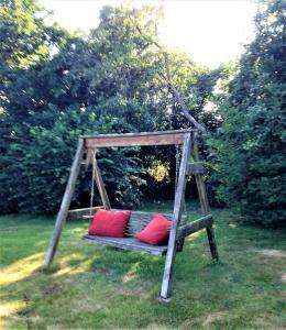 Children's play area at Maison au centre de Camazen