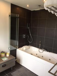 Salle de bains dans l'établissement Maison de jeux- jacuzzi