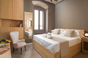 Ein Bett oder Betten in einem Zimmer der Unterkunft Sei Stelle Mama