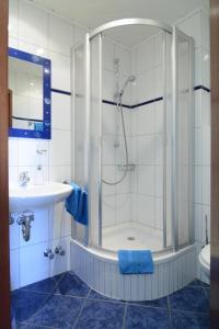 Ein Badezimmer in der Unterkunft Weinhaus Thomas