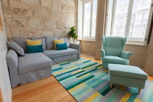 Uma área de estar em Oporto Invite - São Domingos - Historical Center