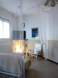 A bed or beds in a room at Albergo San Pietro
