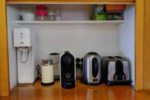 Coffee and tea-making facilities at Hideaway - Pacific Palms