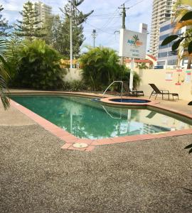 The swimming pool at or near Broadbeach Private Apt with CHA