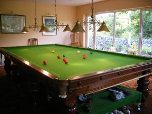 A pool table at Camillaun Lodge with Lough Corrib Boat Hire