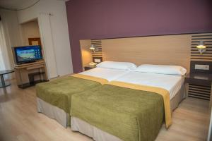 A bed or beds in a room at Hotel Oroel