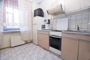 A kitchen or kitchenette at Nice Flats Smolenskaya