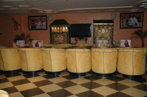 The lobby or reception area at Hotel Benhama