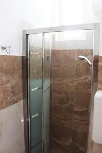 A bathroom at Fellini Rimini