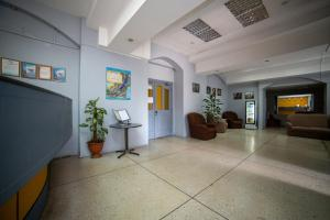 The lobby or reception area at Akademicheskaya Inn
