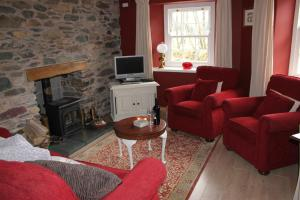 A seating area at Dovedale apartment, Glenridding