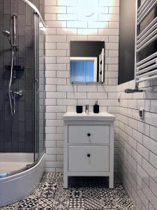 A bathroom at VIU Haffnera 21