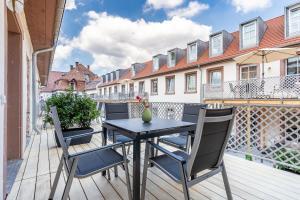Ein Balkon oder eine Terrasse in der Unterkunft Parkside Boutique Appartements
