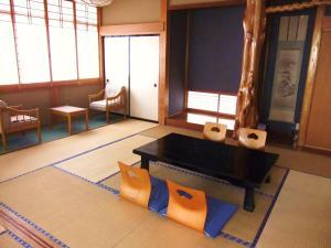 A seating area at Nishimiyasou