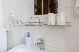 Koupelna v ubytování Penzion Signum Laudis