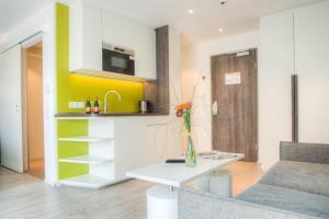 Küche/Küchenzeile in der Unterkunft Eco Suite Hotel