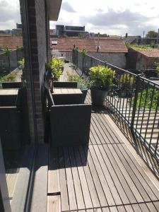 Een balkon of terras bij Bonne Futte Homestay