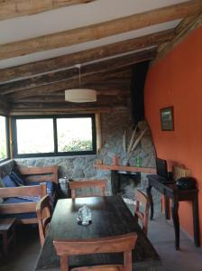 A seating area at Mil Piedras Cabins