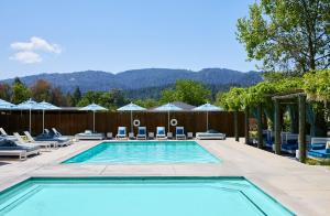 Piscine de l'établissement Calistoga Motor Lodge and Spa ou située à proximité
