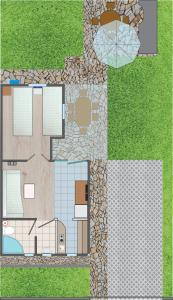 The floor plan of Apartments Mladen