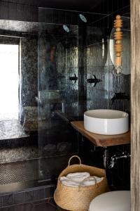 A bathroom at AWOL Hotel