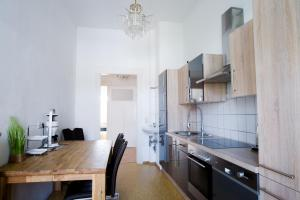 Küche/Küchenzeile in der Unterkunft Auwald Apartment