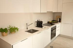 A kitchen or kitchenette at Tear Center Apartment