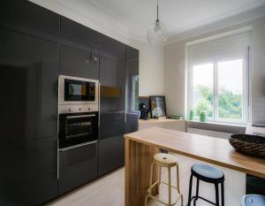 Küche/Küchenzeile in der Unterkunft City Apartments Siegburg