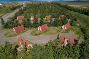 A bird's-eye view of Fossatun Camping Pods & Cottages - Sleeping Bag Accommodation