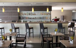 The lounge or bar area at Hotel Adria