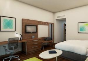 Una televisión o centro de entretenimiento en Holiday Inn Express Villahermosa