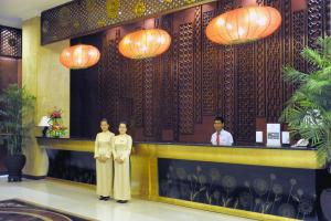 The lobby or reception area at Muong Thanh Holiday Hue Hotel
