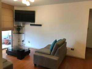 Una televisión o centro de entretenimiento en Apartamento Paracas