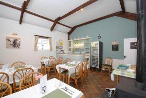 A restaurant or other place to eat at East Trewent Farm