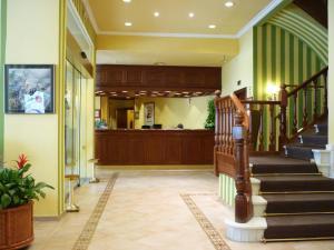 El vestíbulo o zona de recepción de Regencia Colón